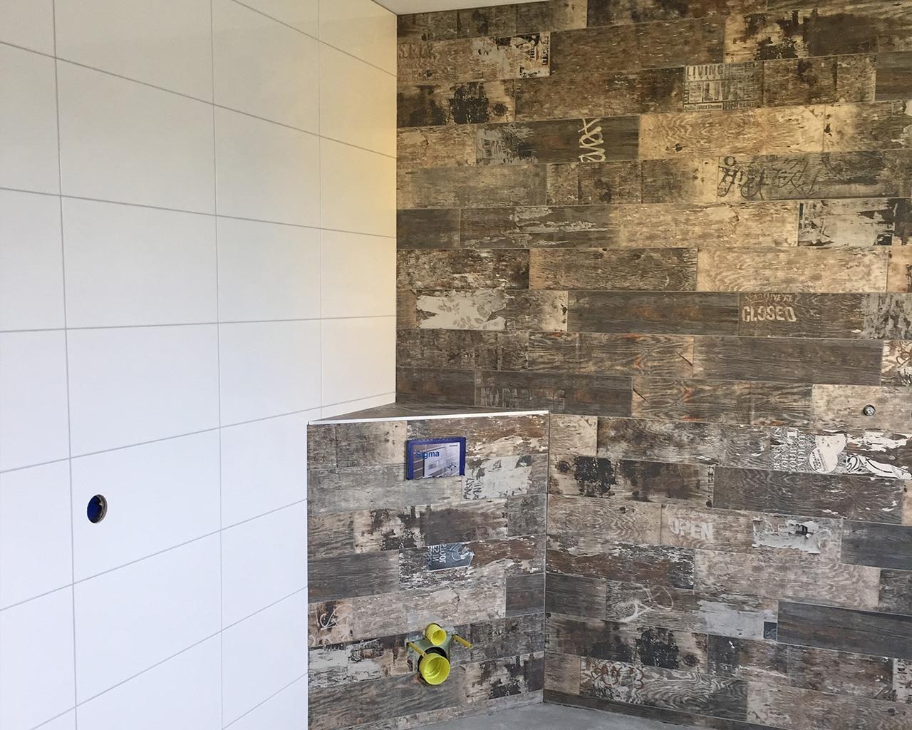 Badkamer met keramisch parket u2022 hoorn tegelwerken